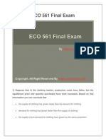 ECO 561 Final Exam Latest University of Phoenix Final Exam Study Guide