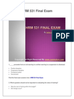 HRM 531 Final Exam Latest UOP Complete Course Tutorials