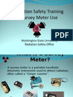Radiation Safety Training Survey Meters