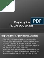 The Scope Document