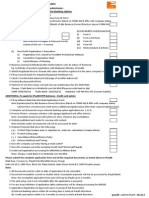 Application Check List 2015
