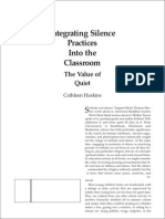 Integrating Silence Practices