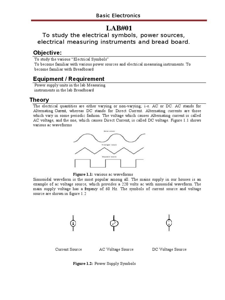Lab01c Voltage Alternating Current