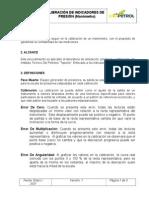 calibracion Manometros TIPO BURDON