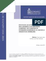 Efectos de Las Actividades Artisticas - Estudio U Chile