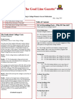 King's College (PA) Women's Soccer Newsletter July - Aug 2015