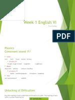 Week 1 (First Grading) English VI