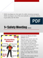 1st Safety Meeting