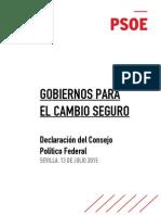 Declaración de Sevilla del PSOE (PDF)