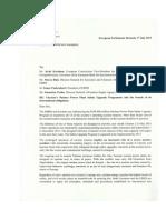 lettera di 26 parlamentari europei a EBRD