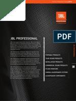 JBLProfesional Catálogo de Toda La Línea 2015