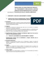 TDR y Especificaciones