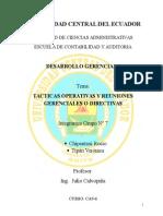 Grupo7 Tacticasempresarialesyreunionesgerenciales 111216211827 Phpapp02