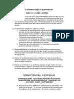 Norma Internacional de Auditoría 580-705