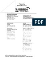 Graybar Transition List