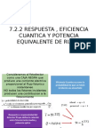 7.2.2 RESPUESTA , EFICIENCIA CUANTICA Y POTENCIA EQUIVALENTE DE RUIDO