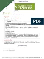 XV Simpósio Da ANPEPP - Inscrições
