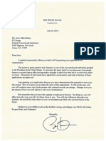 Jerry Allen Bailey letter from President Obama