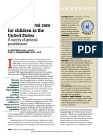 J Am Dent Assoc-2003 Access to Care for Children