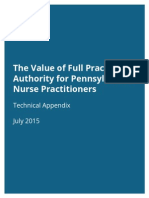 The Value of Full Practice Authority for Pennsylvania Nurse Practitioners - Technical Appendix