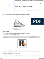189 Ideas to improve your photography business photographer - Photography Business and Marketing Ideas.pdf
