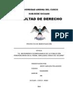 Proyecto de Investigacion - Poblacion San Judas Tadeo