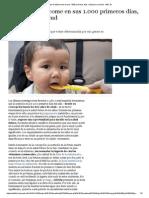 Lo Que El Bebé Come en Sus 1.000 Primeros Días, Vital Para Su Salud - ABC