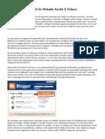 Creare Blog Gratuiti In Metodo Facile E Veloce
