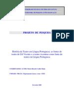 Pesquisa 1 Historia Da Teatro Em Lingua Portuguesa
