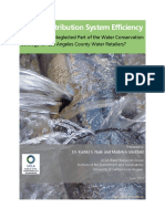 Water System Efficiency Final Report