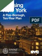 Housing New York, Housing Plan
