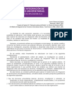 Un Modelo de Integración de Las Funciones Universitarias
