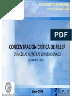 Concentración crítica de Filler