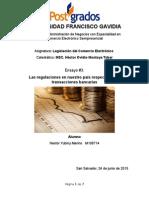 Las regulaciones en nuestro país respecto de las transacciones bancarias