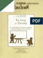 En Torno a Decroly - Clásicos de Educación