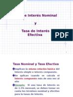 Tasa de Interes Nominal y Tasa de Interes Efectiva