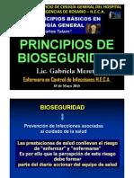 Bioseguridad Charla de La Licenciada Gabriela Mereta Para El Curso de Principios Basicos de Cirugia 2015