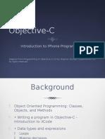Objective C 2.0 Part 1