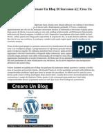 La Tua Guida Per Creare Un Blog Di Successo — Crea Un Weblog