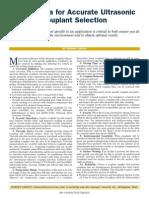 Ten Criteria for Accurate Ultrasonic Couplant Selection