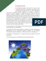 Improtancia de La Energia Solar