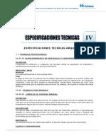 ESPECIF. TECNICAS- ARQUITECTURA