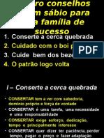 Quatro Conselhos de Um Sábio Para Uma Família