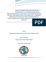 Participacion y Cultura Electoral de Pueblos Indígenas Andinos del Perú
