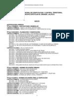 Reglamento de Zonificacion y Ordenamiento Territorial Zapotlan El Grande