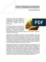 Lectura 1. La Educación Ambiental Como Herramienta de Participación Para La Sosteniblidad Local - Preliminar 1