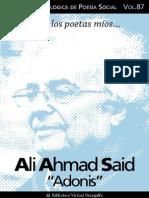 Cuaderno de Poesia Critica n 87 Adonis