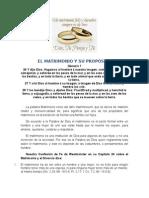 El Matrimonio y Su Propc3b3sito