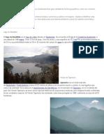 Cada Uno de Los 22 Departamentos Que Tiene Guatemala Tiene Gran Cantidad de Hechos Geograficos