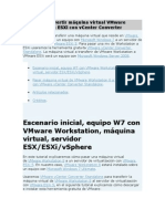 Covertir de VMware Work Station a ESxi